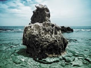 обои Надводный морской риф фото