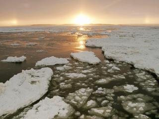 обои для рабочего стола: Таяние льдов