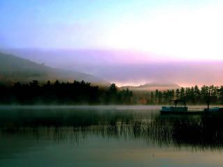 обои Утро на озере фото
