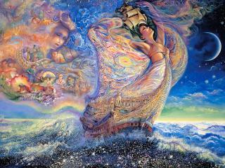 обои Сказочный мир Жозефины Уолл - луна фото