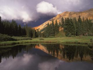 обои Red Mountain Uncompahgre National Forest Colorado фото