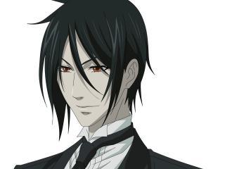 обои Kuroshitsuji - темные волосы фото