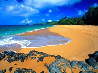 обои Secret Beach Kauai Hawaii фото