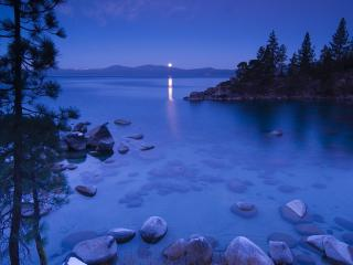 обои для рабочего стола: Secret Cove by Moonlight Lake Tahoe California