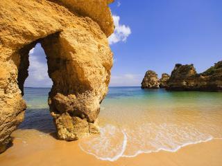 обои Shallow Water Algarve Portugal фото