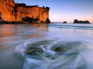 обои Stingray Bay North Island New Zealand фото