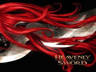 обои Heavenly sword - красные волосы фото