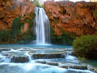 обои для рабочего стола: Havasu Falls, Havasupai Indian Reservation, Arizona