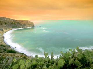 обои Рассвет на море фото