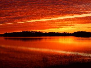 обои Закат на озере фото