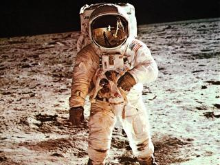 обои Высадка американцев на Луне фото