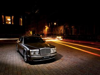 обои Bentley Arnage около дома фото