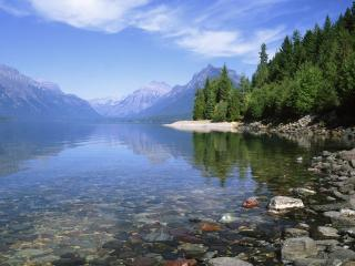обои Lake McDonald, Glacier National Park, Montana фото
