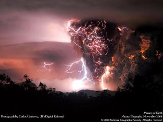 обои Бушующий вулкан Чайтен фото