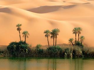 обои Ouem El Ma Lake, Libya фото