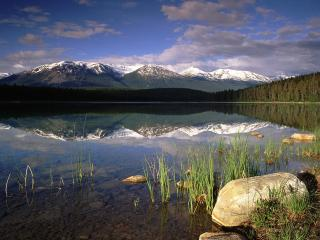 обои Patricia Lake, Jasper National Park, Alberta, Canada фото