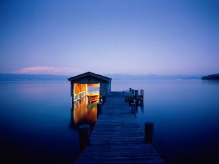 обои Quiet Getaway, Lake Tahoe, Nevada фото