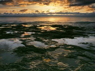 обои Sunrise Light on Lake Michigan, Wisconsin фото