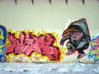 обои Граффити - парень фото
