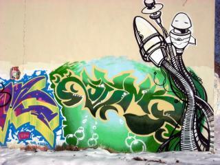 обои Граффити - существо фото