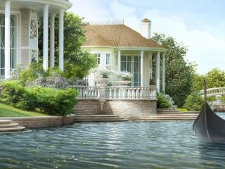 обои Озеро и домик фото