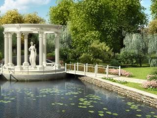 обои Озерцо и статуя фото