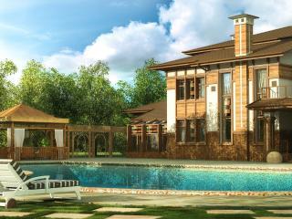 обои Дом с бассейном фото