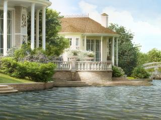 обои Дом у озера фото