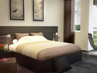 обои Спальня в теплых цветах фото