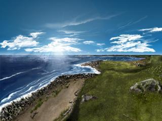 обои Залив на закате фото