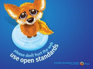 обои Firefox.use open standards фото