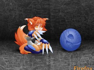 обои Firefox. девочка-воин фото