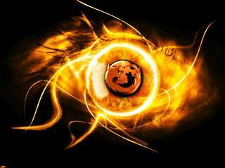 обои Firefox огонь фото