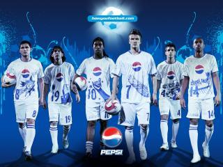 обои Pepsi and footbol фото