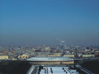обои Панорама с Воробьёвых гор фото