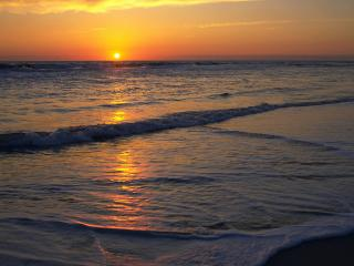 обои Atlantic Sunrise, Cape Hatteras National Seashore фото