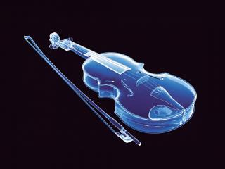 обои Неоновая скрипка фото