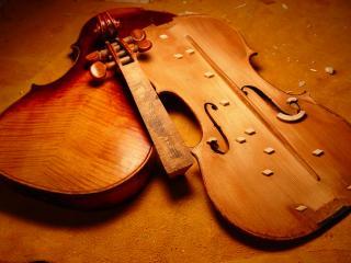 обои Разбитая скрипка фото