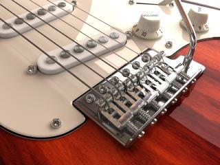 обои Белая электронная гитара фото