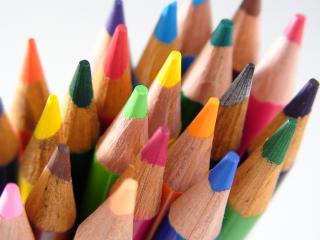 обои Цветные карандаши с тупыми носиками фото