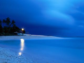 обои Boathouse at Dawn, Fiji фото