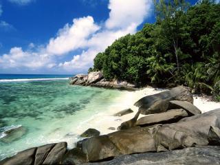 обои Pirate Cove, Moyenne Island, Seychelles фото
