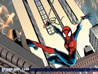 обои Spiderman в полете фото