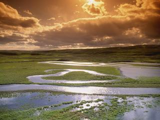 обои Национальный парк в закате фото