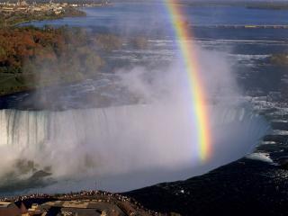 обои Ниагарский водопад, радуга фото