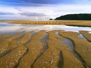 обои Песок и вода фото