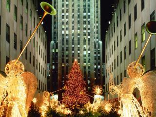 обои Рождество в центре Нью Йорка фото