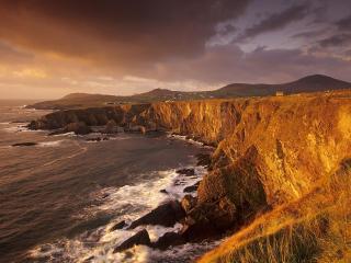 обои Dingle Peninsula Coastline at Sunset, Ireland фото