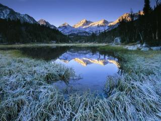 обои Frosty Morning, Little Lakes Valley фото