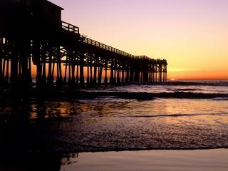 обои Crystal Pier, San Diego, California фото